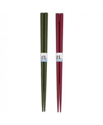 Coffret de 2 Baguettes Tsugai Rose et Verte